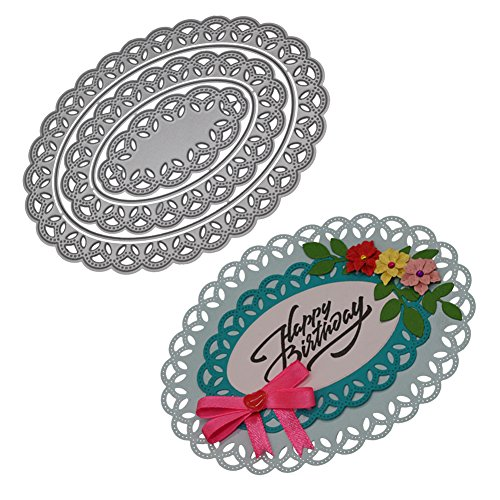 Ocamo Multi-layer Hollowed Oval Flower Frame New Craft Cutting Dies for Scrapbook 2018