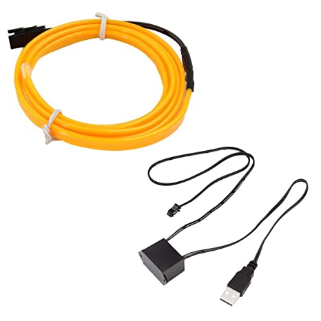 9407052d Amazon.com: LED EL Light Neon Rope Car Dance Glow Light Strip + 3V/12V  Controller USB Drive Car Decoration Light Car Styling Party Decor: Home  Improvement