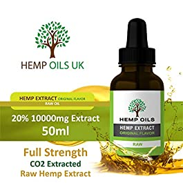 10000mg (10 Grams) – 20% (Raw) Hemp Oil – 5 Months Supply – UK Company – UK Brand