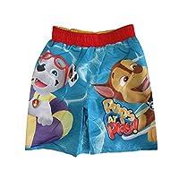 Nickelodeon Little Boys Blue Red Paw Patrol Print UPF 50+ Swim Shorts 3T