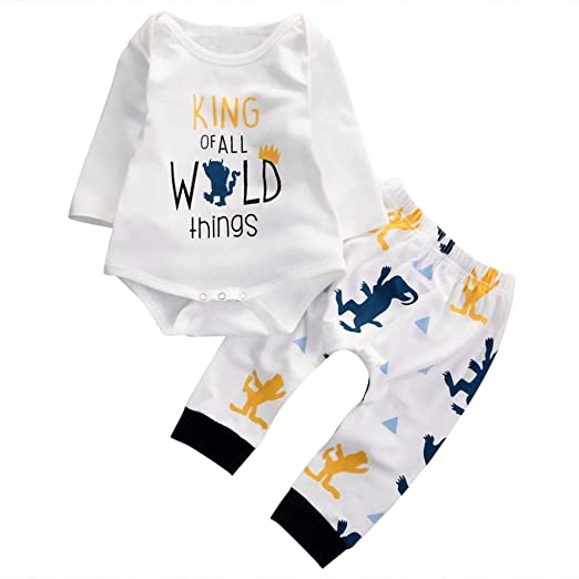 Sagton Quotking Of All Wild Thingsquot Infant Baby Boys Outfits Long Sleeve Romper