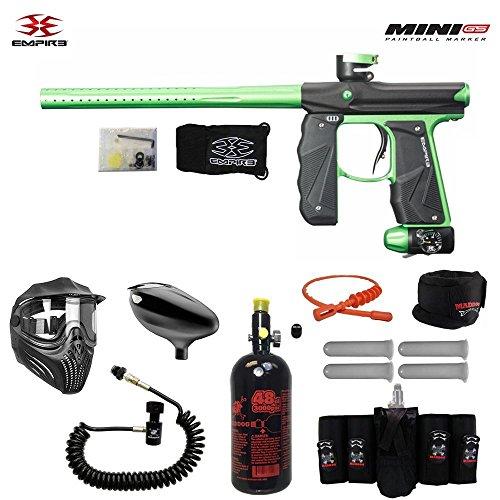 MAddog Empire Mini GS Elite Remote HPA Paintball Gun Package - Black/Neon Green