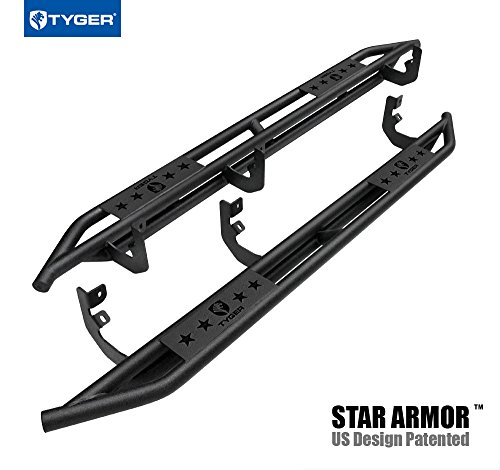 Tyger Auto TG-AM2N20168 Star Armor Kit for 2004-2019 Nissan 2016-2019 Titan XD Crew Cab | Textured Black | Side Step Rails | Nerf Bars | Running Boards