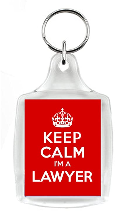 KEEP CALM soy abogada rojo llavero, un regalo único para un ...