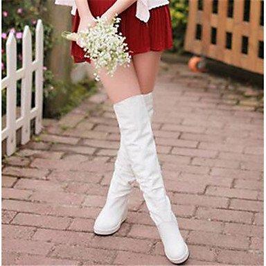 GLL&xuezi Damen Stiefel Komfort PU Herbst Winter Normal Normal Normal Weiß 12 cm & mehr 97bab9