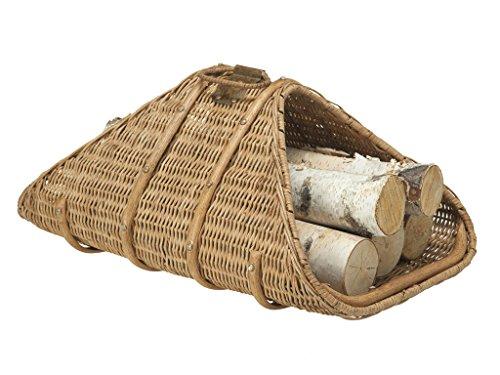 KOUBOO Wicker Fire Log Basket