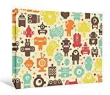 JP London DDCNV2538 Ready to Hang Feature Wall Art 2'' Thick Heavyweight Gallery Wrap Canvas Retro Monster Machine Robots At 40'' High by 60'' Wide