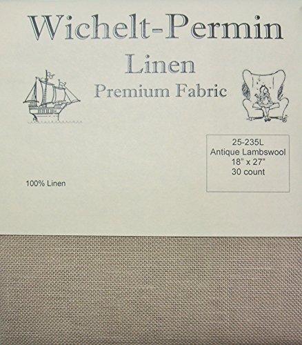 Wichelt Permin 100% Linen Antique Lambswool 30 Ct 18