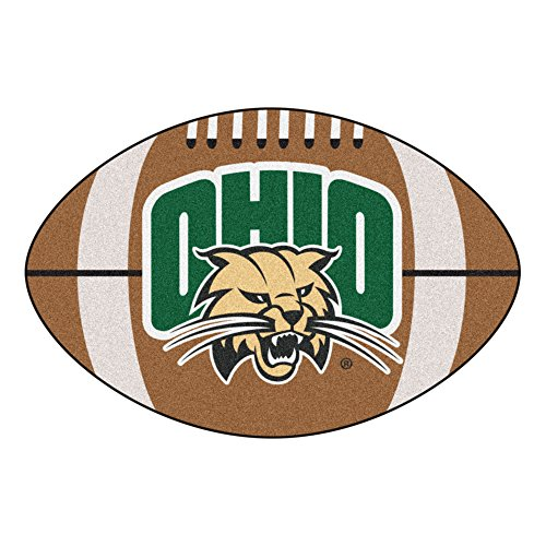 (NCAA Ohio University Bobcats Football Shaped Mat Area Rug)