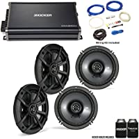 "Kicker 43CSC654 6.5"" CS-Series Speakers (2 pair) with 43CXA3004 CX-Series Amplifier and wire kit"