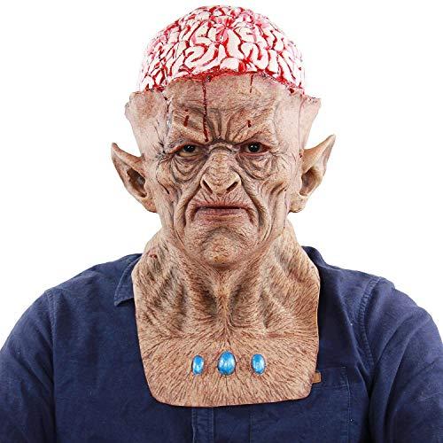 Horror Evil Devil Bloody Burst Brains Monster Scary Zombie Crazy Clown Creepy Mask -