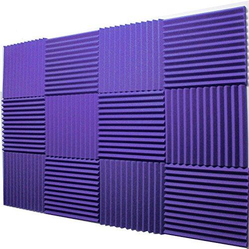 Mybecca -12 Pack Acoustic Panels Studio Foam Wedges 1