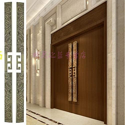 ZTZT Puerta de madera antigua china con puerta corredera de vidrio ...