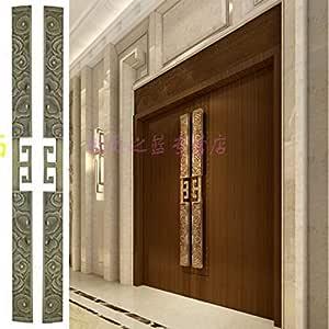 ZTZT Puerta de madera antigua china con puerta corredera de vidrio sin marco para tocar la manija de puerta de madera de la puerta de la puerta, 100 * 1500 mm: Amazon.es: