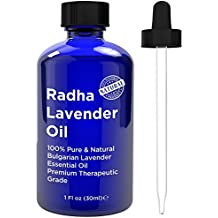 Radha Beauty Lavender Essential Oil 100% Pure & Natural - 1 oz.