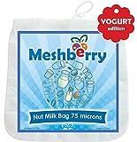 Almond-Nut-Milk-Bag-Best-Silky-Texture-Maker-Juice-Cottage-Cheese-Greek-Yogurt-Strainer-Reusable-Durable-12X12-100-or-200-Microns-Fine-Mesh-Nylon-White