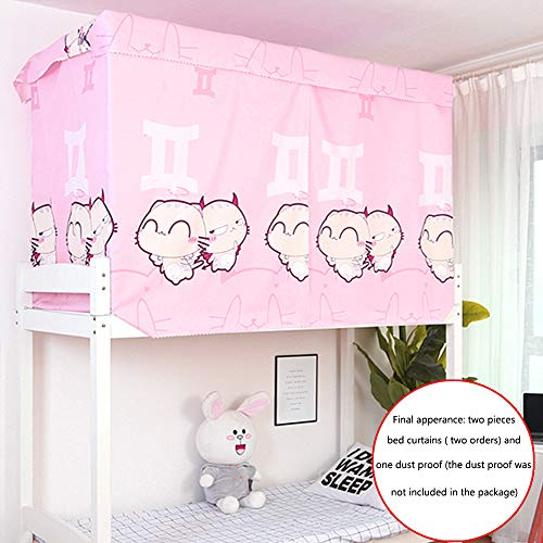 (Heidi Little Monsters Bed Canopy Single Sleeper Bunk Bed Curtain Student Dormitory Blackout Cloth Mosquito Nets Bedding Tent (Two Orders Needed))