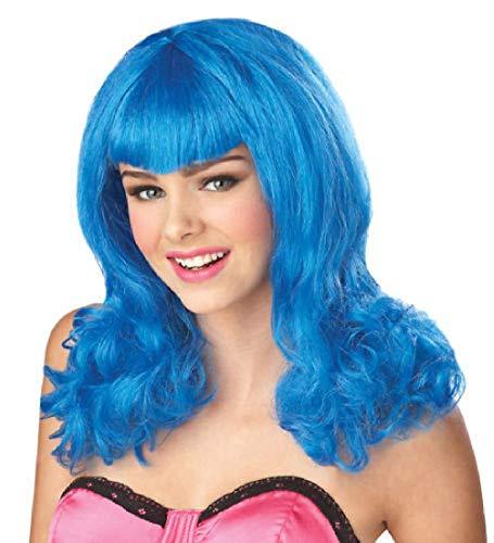 Katy Perry Teenage Dream Adult Costume Wig Hair Blue -