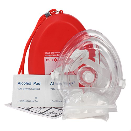 - Ever Ready First Aid CPR Rescue Mask, Adult/Child Pocket Resuscitator, Hard Case with Wrist Strap + Gloves and Wipes