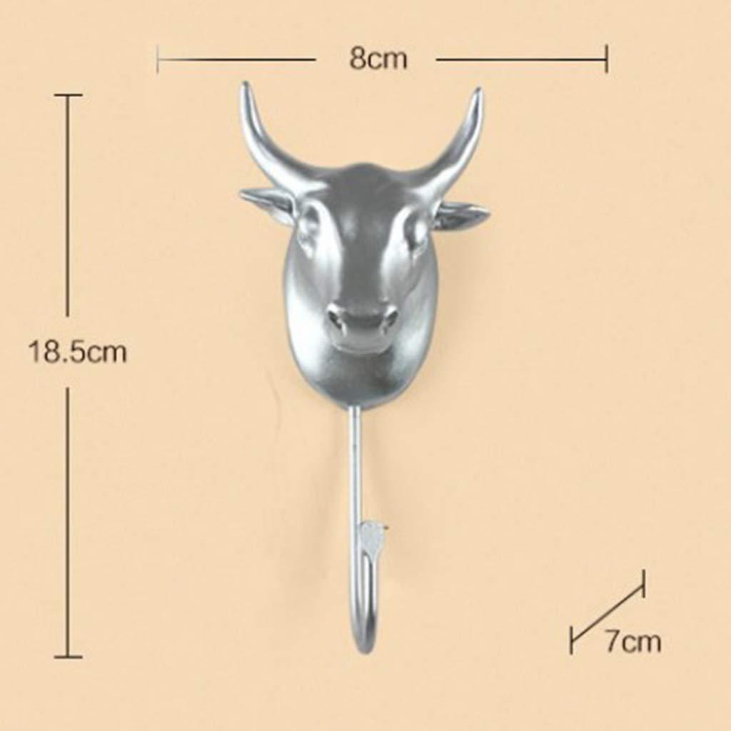 Amazon.com: Perchero de pared con gancho, cabeza de vaca ...