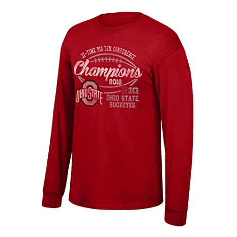 Elite Fan Shop Ohio State Buckeyes Big Ten Champs Long Sleeve Tshirt 2018  Vintage Red - 78b7122aac0d