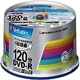 三菱ケミカルメディア Verbatim 1回録画用DVD-R(CPRM) VHR12JSP50V4 (片面1層/1-16倍速/50枚)