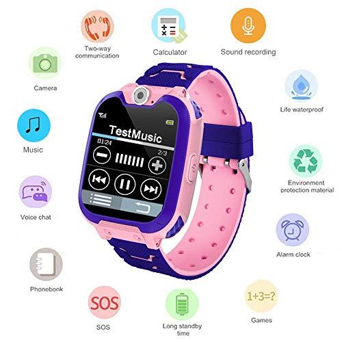 MOGOI Kids Tracker Smart Watch wasserdicht, Touchscreen Mobile Smart Watches, SOS Anti-Lost-SIM-Karte Smartwatch mit…