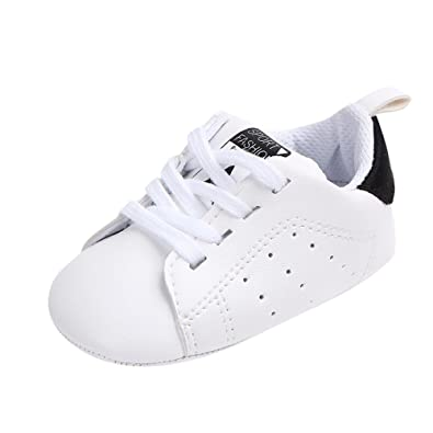 Sudiy Baby Boy Baby Girl Solid Color Star Print Baby Shoes Toddler Soft Sole Casual Shoes