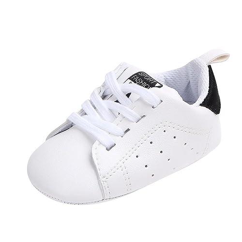Gusspower Zapatos de Bebé Zapatillas Deportivas para bebés recién Nacidos Primeros Pasos Calzado de Cuero Antideslizante Suave para niños niñas pequeños ...