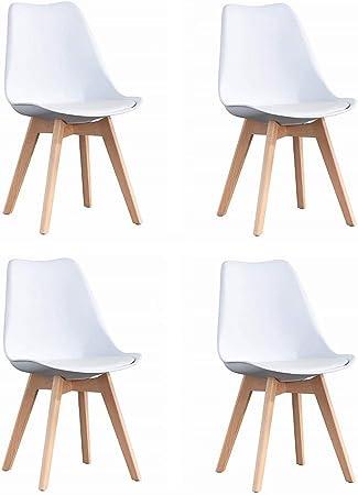 sillas blanca escandinavas
