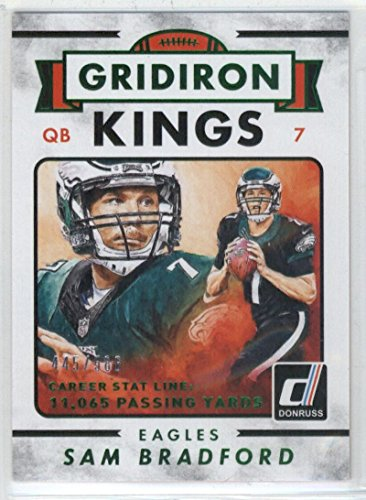2015 Donruss Gridiron Kings Career Stat Line #274 Sam Bradford NM-MT /586 Eagles