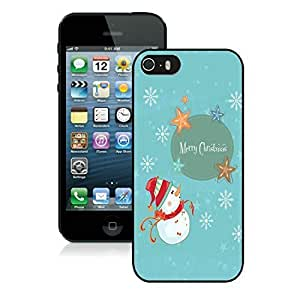 2014 New Style Iphone 5S Protective Case Merry Christmas iPhone 5 5S TPU Case 16 Black