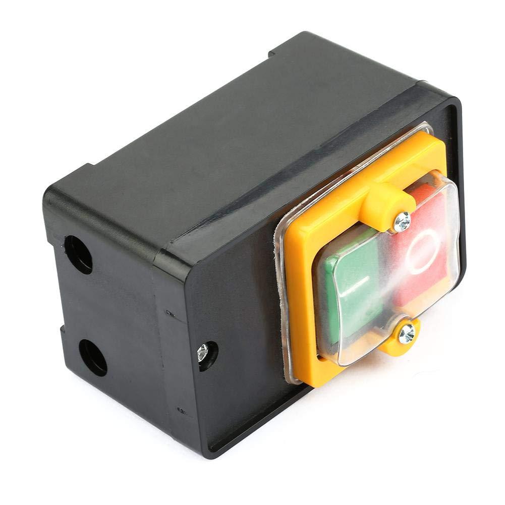 380V 10A Caja de Control de Parada de Arranque Impermeable FTVOGUE Interruptores Pulsadores AC220V