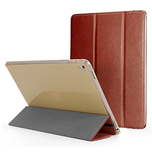 iPad Pro Case, Cambond Slim Fit Auto Sleep / Wake Flip Durable Handmade PU Leather Cover with Elastic Strap and Soft TPU Back Case with Protective Bum…