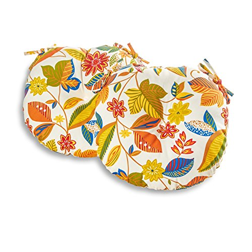 Greendale Home Fashions 18 in. Round Outdoor Bistro Chair Cushion (set of 2), Esprit - Group Greendale