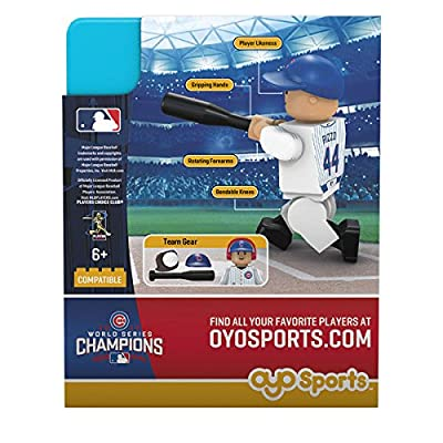 MLB Chicago Cubs Anthony Rizzo Gen 5 World Series Champion Mini Figure, Black, Small