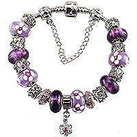 White Birch Heart Charm Bracelets for Girls - Birthday Gifts Ideas for Teen Girls Fit Pandora Charms Bracelet Heart Blue March Birthstone DIY Jewelry