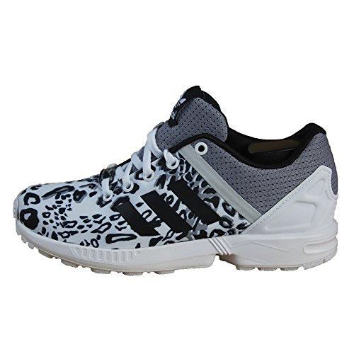 Adidas - Adidas Zx Flux Split K Scarpe Sportive Donna Bianche Tela S78735 Blanco-Gris-Negro