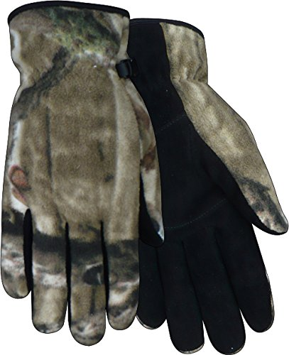 Red Steer Mossy Oak MO-51 Black Large Deerskin Suede Leather Cold Condition Gloves - MO-51-L [PRICE is per PAIR]