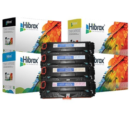 Hibrox Compatible 4 Packs (1 x Black, 1 x Cyan, 1 x Yellow, 1 x Megenta) HP CB540A / CE320A / CF210X, HP CB541A / CE321A / CF211A, HP CB542A / CE322A / CF212A, HP CB543A / CE323A / CF213A, Canon CRG116 / 131 Toner Cartridge Compatible With CANON I-SENSYS L