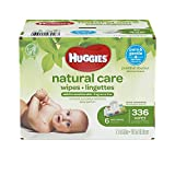 Health & Personal Care : HUGGIES Natural Care Unscented Baby Wipes, Sensitive, Water-Based, 6 Flip-top Packs, 336 Count Total