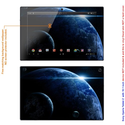 """Decalrus Matte Protective Decal Skin skins Sticker for Sony Xperia Tablet Z2 """"Z2"""" with 10.1"""" screen (IMPORTANT: Must view """"IDENTIFY"""" image for correct model) case cover XperiaTabZ2-92"""