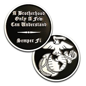 Marine Corps Brotherhood Challenge Coin! Amazing USMC Custom Coin! Designed for Marines by Marines. Officially Licensed Coin! from Coins For Anything Inc