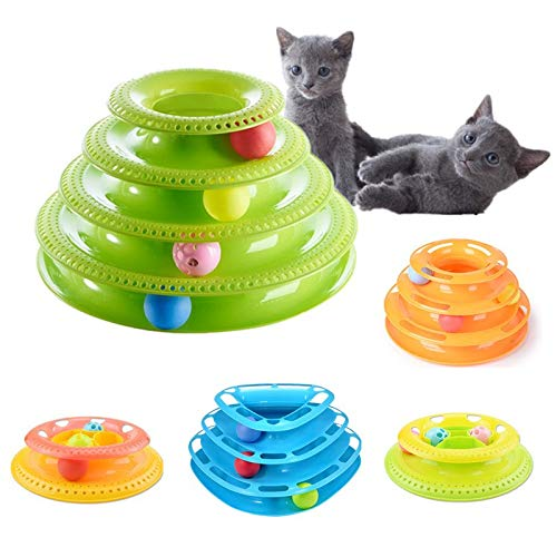 Creative Pet Cat Toys Track Ball Turntable Interactive Cat Toy Playing Crazy Ball Disk Intelligence Tranning Toy Cat Supplies