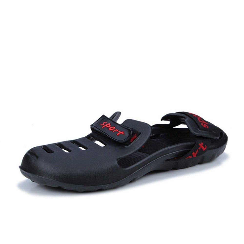 Wangcui - Sandalias de Vestir de Papel para Hombre 41.5|Negro