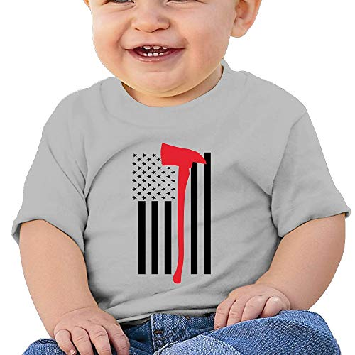 LUCIFA BAY Thin Red Line Axe Flags Children's T Shirt Baby Boys Girls Tee Infant Toddler T-Shirt