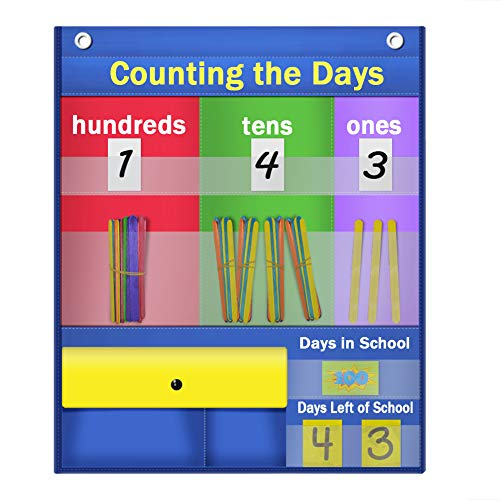 Godery Counting Caddie Pocket Chart & Place Value Charts (Hundreds, Tens, ()