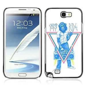 YOYOSHOP [Funny Monkey Hipster Sign] Samsung Galaxy Note 2 Case