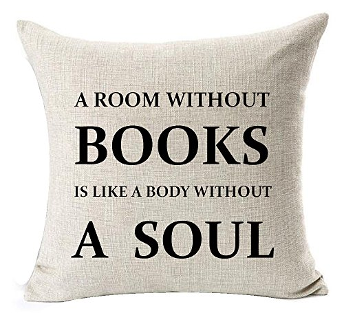 A Room Without Books Throw Pillow Cover