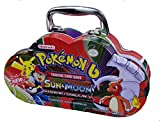EMOB B Sun and Moon Burning Shadows Trading Card Game Multicolored Cartoon Metal Tin Pack with 82 Trading & additional 30 Booster Cards Set
